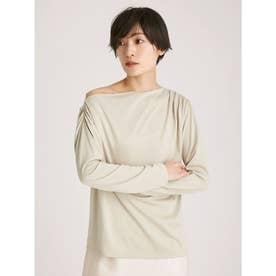 アシメネックラインTシャツ (OLV)