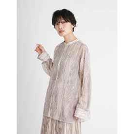 マーブル柄シアーシャツ (BEG)