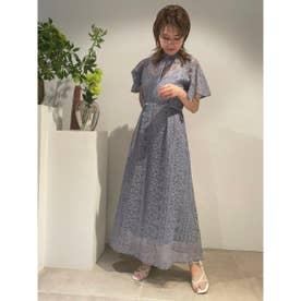 フローティング刺繍ドレス (BLU)