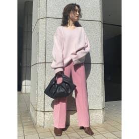 【00サイズ展開】ハイツイストツイルタックパンツ (PNK)