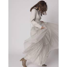 チュールティアードドレス (BEG)