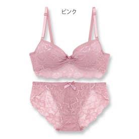 ECLAT エクラ ブラ&ショーツセット B65-D75カップ (ピンク) 【返品不可商品】