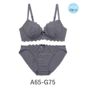 Cotton Dragee コットンドラジェ ブラ&ショーツセット A65-G75カップ 【返品不可商品】(グレー)