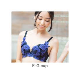 GRACE Grande らくらく補正グレースグランデ コーディネートブラジャー E65-G90カップ【返品不可商品】 (パープル)