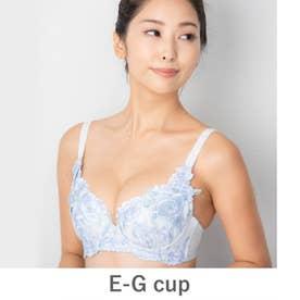 GRACE Grande らくらく補正グレースグランデ コーディネートブラジャー E65-G90カップ【返品不可商品】 (サックス)