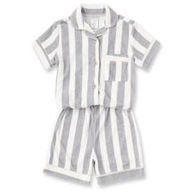 Kid's set-up半袖パジャマシャツ・ショートパンツ上下セット(キッズ) (グレー)