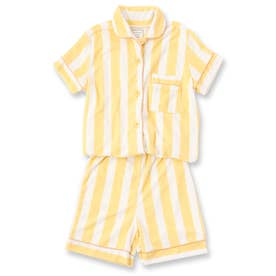 Kid's set-up半袖パジャマシャツ・ショートパンツ上下セット(キッズ) (イエロー)