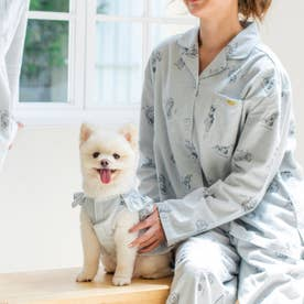 cotton flannel小型犬サイズ・犬服(ドッグウェア)・ドレス【返品不可商品】  (グレー)