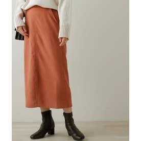 起毛ツイルベーシックナロースカート (オレンジ)