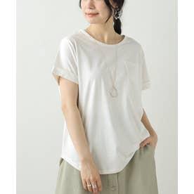 クルーネック裾ラウンドTシャツ (生成)