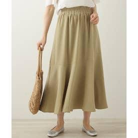 裾切り替えフレアースカート (ピスタチオ)