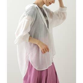 ボリューム袖シアーオーバーシャツ (オフ白)