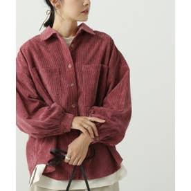 ボリュームスリーブシャツジャケット (ピンク)
