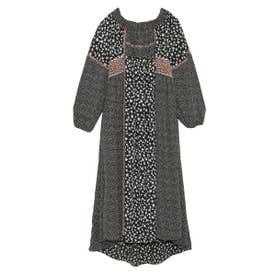 2WAYパッチワークドレス (BLK)