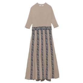 チロリアンニットドレス (BEG)