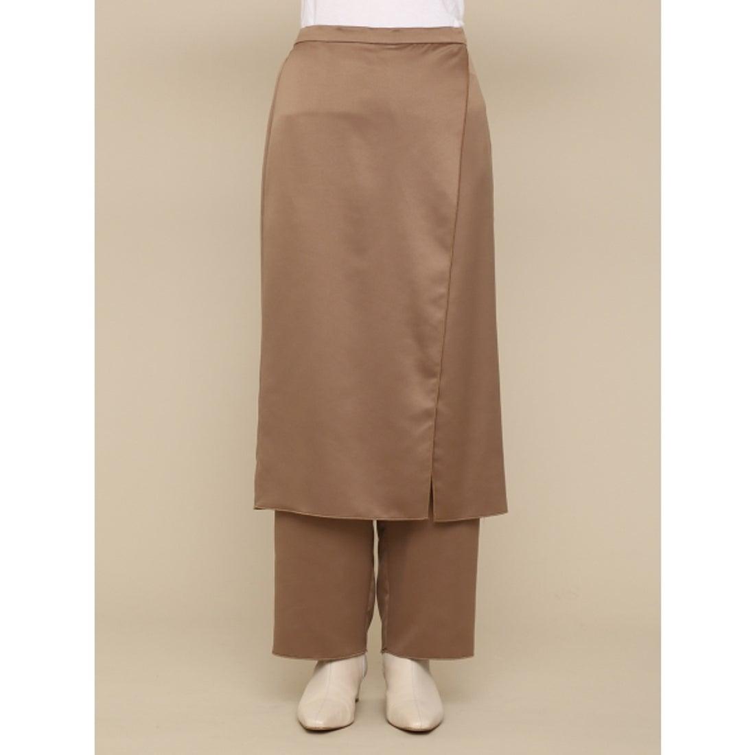 ラップ レイヤード スカート