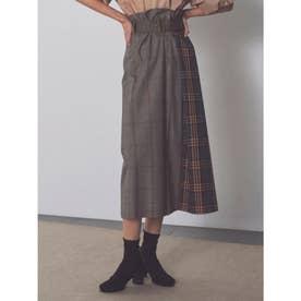 ベルト付ロングタイトスカート (CHECK)
