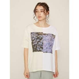 ハーフデザインプリントTシャツ (IVR)