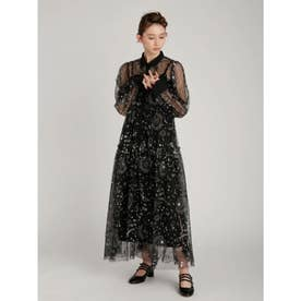 タロットモチーフ刺繍ドレス (BLK)