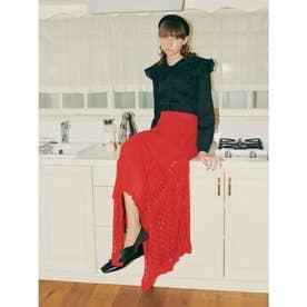 レーシーニットスカート (RED)