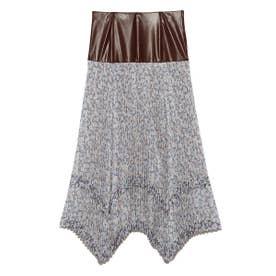 リトルフラワープリーツスカート (BLU)