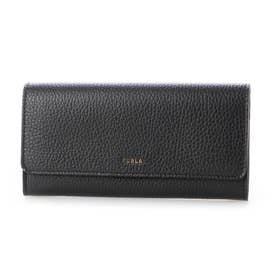 二つ折り長財布 (ブラック)