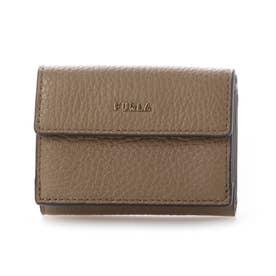 三つ折り財布   ウォレットミニ財布 (カーキ)