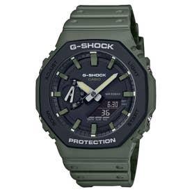 【G-SHOCK】Utility Color(ユーティリティ・カラー) / GA-2110SU-3AJF / カーボンコアガード (グリーン×ブラック)