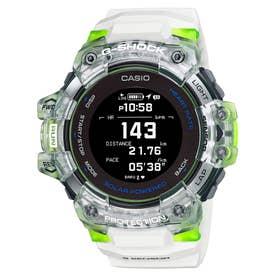 【G-SHOCK】G-SQUAD(ジー・スクワッド) / GBD-H1000シリーズ / 心拍計+GPS機能搭載モデル / GBD-H1000-7A9JR (ホワイト×ライム-スケルトン)