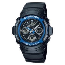 【G-SHOCK】AW-590シリーズ / AW-591-2AJF (ブラック×ブルー)