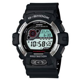 【G-SHOCK】高輝度LED+電波ソーラー / GW-8900-1JF / Gショック (ブラック×シルバー)