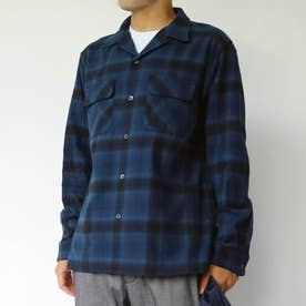 PENDLETON チェックオープンカラーシャツ (60ブルー)