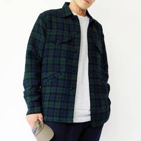 PENDLETON CPOチェックシャツジャケット (46カーキ)