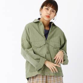 ビッグシャツジャケット (46カーキ)