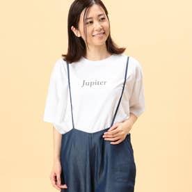 スリットプリントTシャツ (09ホワイト)