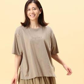 スリットプリントTシャツ (15キャメル)