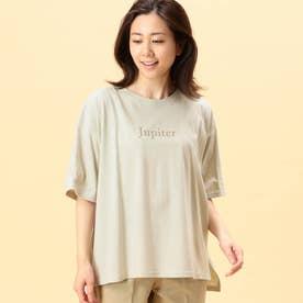 スリットプリントTシャツ (18ベージュ)