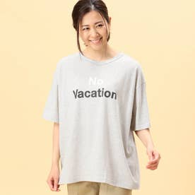 2配色ロゴプリントTシャツ (24クリーム)