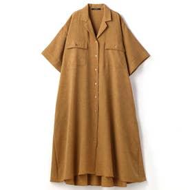フレアーAラインロングシャツ (15キャメル)