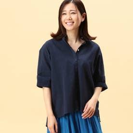 半袖コットンシャツ (67ネイビー)