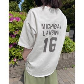 ラウンドナンバリングTシャツ (09ホワイト)