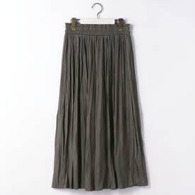 消しプリーツロングスカート (39チャコールグレー)