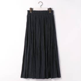 消しプリーツロングスカート (67ネイビー)