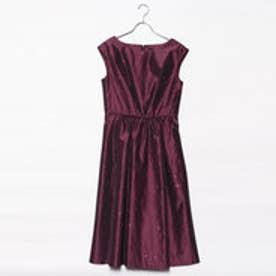 刺繍ワンピースドレス (パープル)