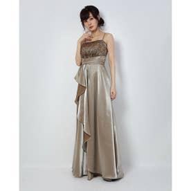 ロングドレス (ゴールド)