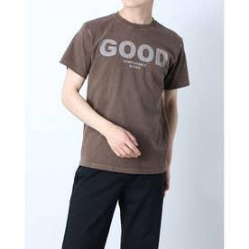 メンズ 半袖Tシャツ GOOD ON LOGO SHORT SLEEVE TEE OLSS-541P (ブラウン)