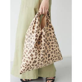 キャンバスリボンワンショルトートバッグ (Leopard)
