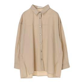 シルバーボタンシャツ (Beige)