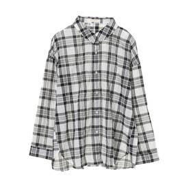 マドラスチェックシャツ (Black)