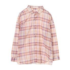 マドラスチェックシャツ (Beige)